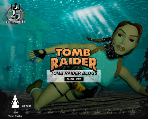 Tomb Raider 25 Web Site