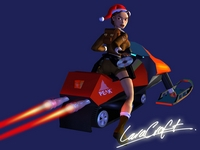 Lara Croft Christmas Wallpaper