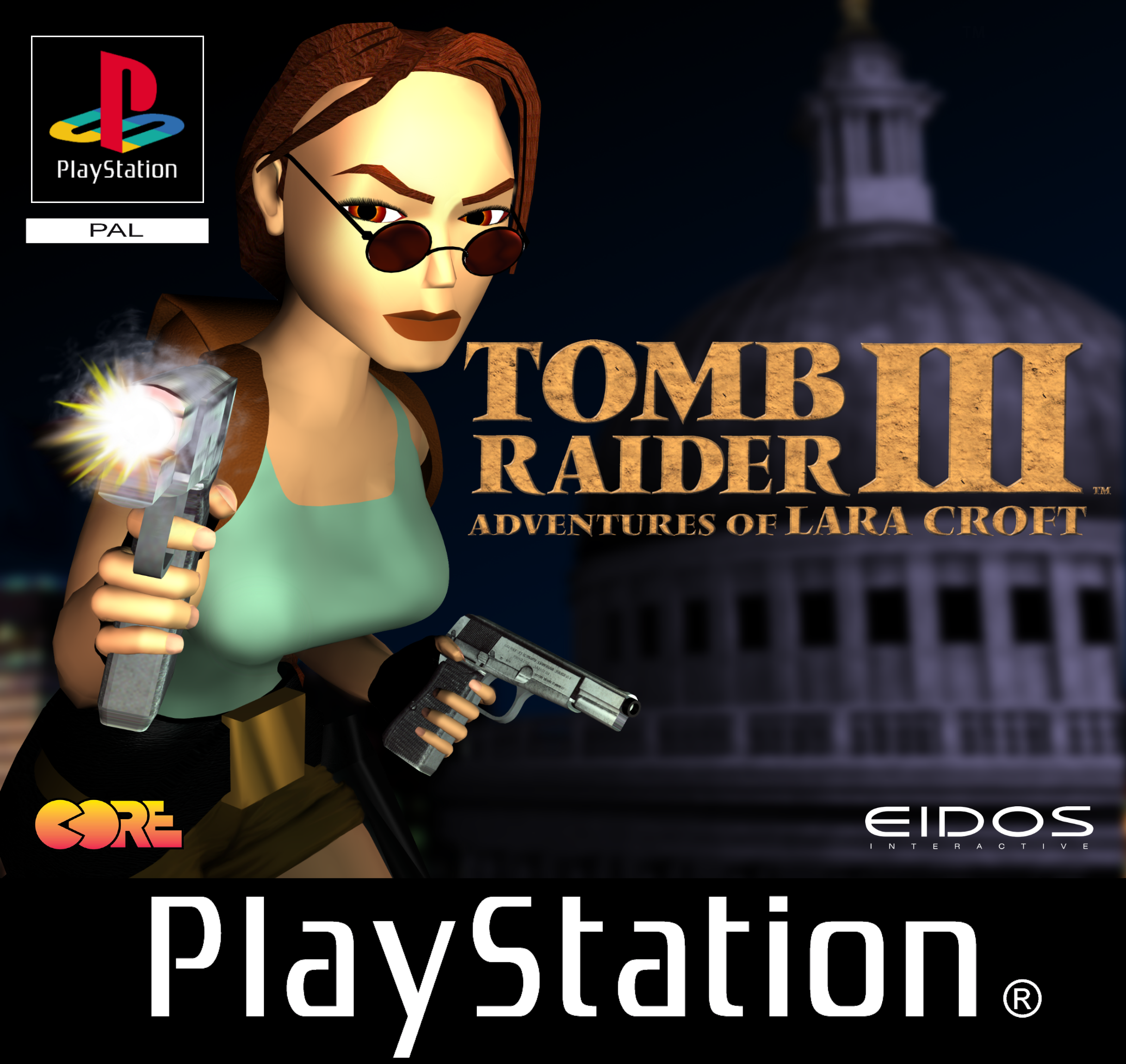 Tomb Raider Covers European Playstation By Ligufaca